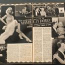 Mamie Van Doren - Cine Revue Magazine Pictorial [France] (30 September 1955)