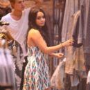 Vanessa Hudgens Shopping Spree At Planet Blue