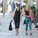 Reese Witherspoon works out with some friends at a gym in Brentwood on April 18, 2016