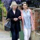 Emilia Clarke with her mother out in London - 454 x 617