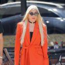Lady Gaga in Orange Blazer – Out in New York City