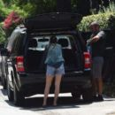 Scout Willis in Jeans Shorts Leaves Her House in Los Angeles - 454 x 391