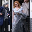 Christina Hendricks – Filming 'The Burning Woman' in Brockton - 454 x 568