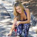 Joanna Krupa Walking Her Dog In Miami
