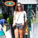 Danielle Lloyd in Denim Shorts – Out in London - 454 x 712