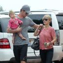 Chris Hemsworth and Elsa Pataky out in Malibu with India (June 23)