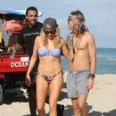 Ellie Goulding with boyfriend Dougie Poynter on Miami Beach January 5,2015 - 454 x 568