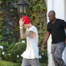 Justin Bieber — Stops by his office in Los Angeles — July 22, 2014