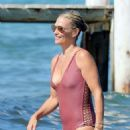 Molly Sims in Swimsuit on the beach in St Tropez - 454 x 675