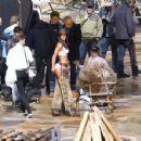 Lais Ribeiro Shooting a commercial for Victoria Secret's upcoming holiday catalog in Aspen - 454 x 352