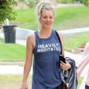 Kaley Cuoco Leaving Workout in Studio City - 454 x 599