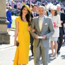 George Clooney and Amal Alamuddin :  Prince Harry Marries Ms. Meghan Markle - Windsor Castle - 438 x 600