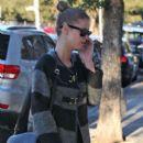 Nicky Hilton feeds her parking meter outside of Lemonade restaurant in West Hollywood