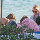 Valeria Mazza – Enjoys a Holiday With Her Family on the Beach in Marbella 8/11/2016 - 454 x 355
