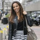 Rochelle Humes is pictured leaving the ITV studios following a guest appearance on 'Lorraine'