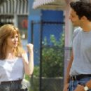 The romance between the characters played by Adrienne Shelly and Max Parrish (pictured on set) was praised by The LA Times [ - 454 x 303