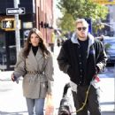 Emily Ratajkowski with her husband and Colombo in Brooklyn
