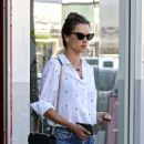 Alessandra Ambrosio in Denim Shorts – Shopping in West Hollywood