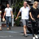 Claire Holt with her family out to lunch in West Hollywood - 454 x 340