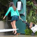 Lea Michele on set of 'Untitled City Mayor Project' in Los Angeles