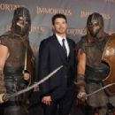Kellan Lutz and Corbin Bleu attended the premiere of Immortals 3D, November 7, at Nokia Theatre L.A. Live in Los Angeles