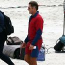 Zac Efronon the set of 'Baywatch' on March 29, 2016 in Savannah, Georgia
