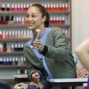 Ashley Greene and Cara Santana at a nail salon in Beverly Hills