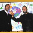 Metin Bereketli and Dwayne Johnson