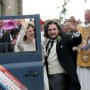 Kit Harington and Rose Leslie – Arriving at their wedding in Scotland - 454 x 313