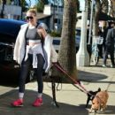 Alessandra Torresani – Walking her dogs in Los Angeles - 454 x 434