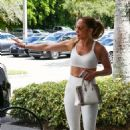 Jennifer Lopez – Out with a friend for errands in Miami