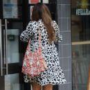 Kelly Brook in Mini Dress – Arrives at Global Radio in London