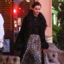 Emma Watson in Animal Print Skirt – Out in Santa Monica