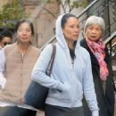 Lucy Liu In Leggings Out In Ny