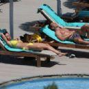 Rhian Sugden in Yellow Bikini in Ibiza - 454 x 304