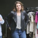 Mandy Moore Shops At A Yard Sale In La