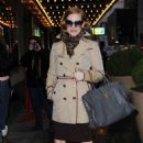 Jessica Chastain arrived at the Walter Kerr Theater in New York City on Saturday (December 29)