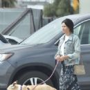 Jenna Dewan with her dog in Los Angeles