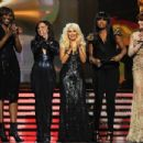 Florence Welch, Jennifer Hudson, Christina Aguilera, Martina McBride and Yolanda Adams attends The 53rd Annual Grammy Awards - 454 x 303