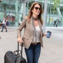 Cindy Crawford at Heathrow Airport in London - 454 x 681
