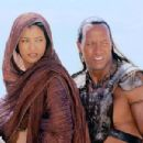 Dwayne Johnson and Kelly Hu