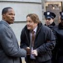 (Left to right.) Jamie Foxx and Christian Stolte star in Overture Films´ LAW ABIDING CITIZEN. Photo Credit: John Baer © 2009 LAC Films, LLC. All Rights Reserved.