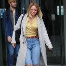 Kimberley Walsh – Exits Radio 5 studio in London - 454 x 691
