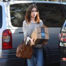 Lily Collins – Seen at the FedEx in Beverly Hills