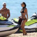 Myleene Klass – Wearing Bikini on the beach in Portugal - 454 x 402