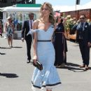 Jennifer Hawkins– Celebrities Attend Oaks Day - 448 x 600