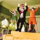 Dakota Fanning, Mike Myers and Spencer Breslin in Universal's Dr. Seuss' The Cat In The Hat - 2003