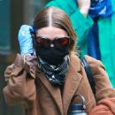 Ashley Olsen – Leaving her Tribeca office covering her face