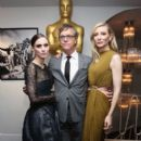 Rooney Mara, the director Todd Haynes and Cate Blanchett - Official Academy Screening of 'Carol'  (November 16, 2015) - 397 x 600