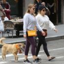 Hilary Duff in Tights With Her Dog out in New York - 454 x 303